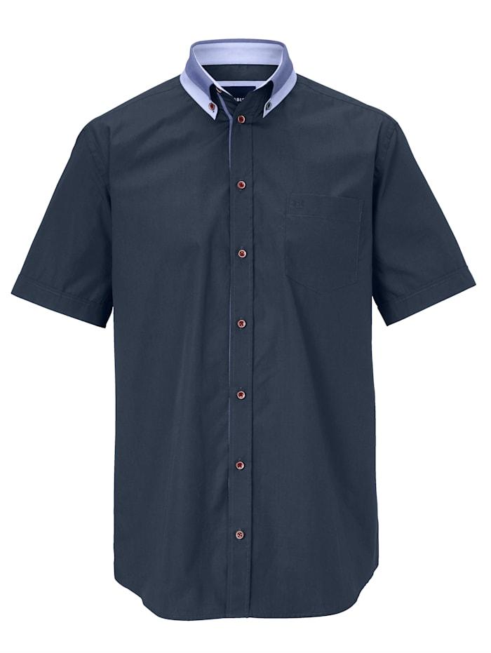 BABISTA Overhemd met bicolor kraag, Marine