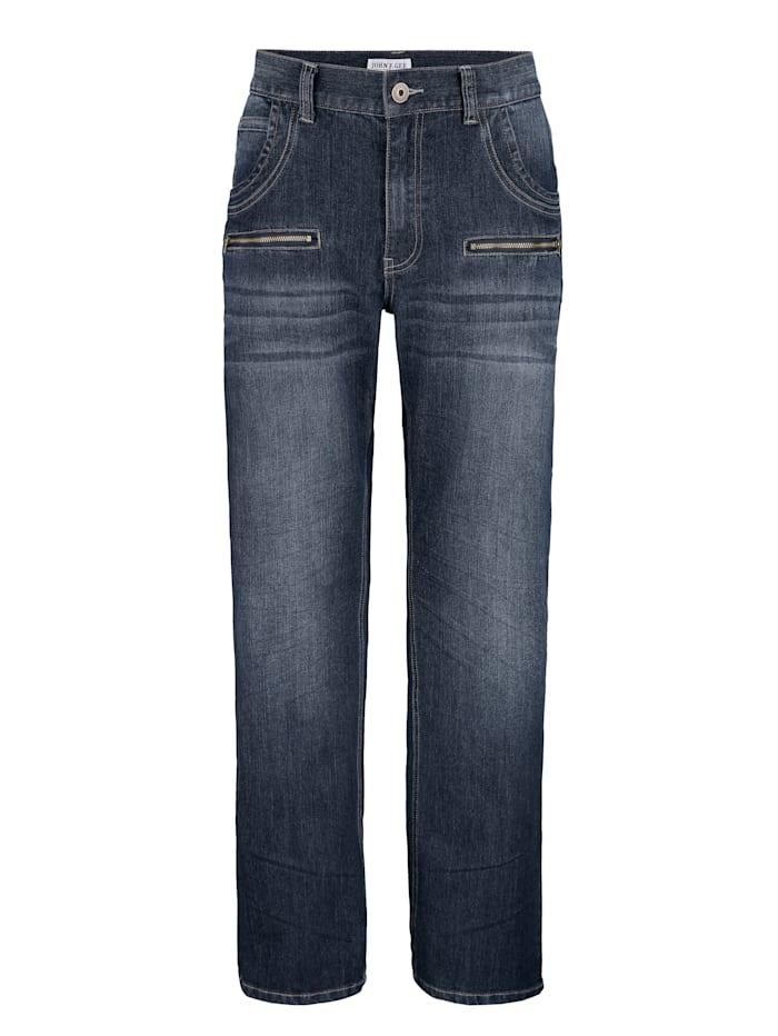 Jeans med extra dragkedjefickor