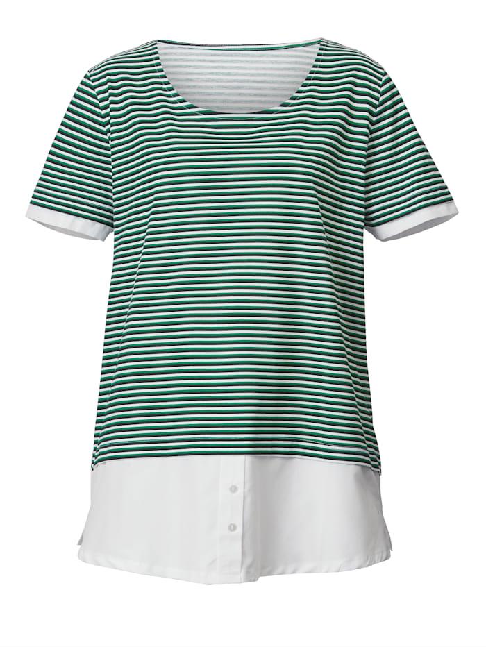 2-in-1 Shirt mit Webeinsatz