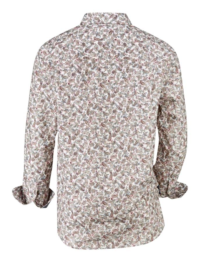Overhemd met modieus paisleypatroon