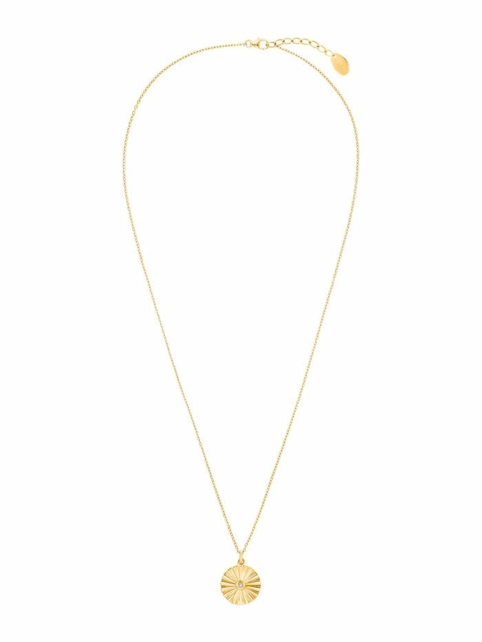 Halskette für Damen, 925 Sterling Silber vergoldet | Sunray