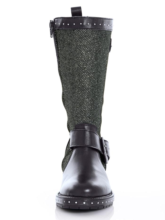 Stiefel in Glitzeroptik