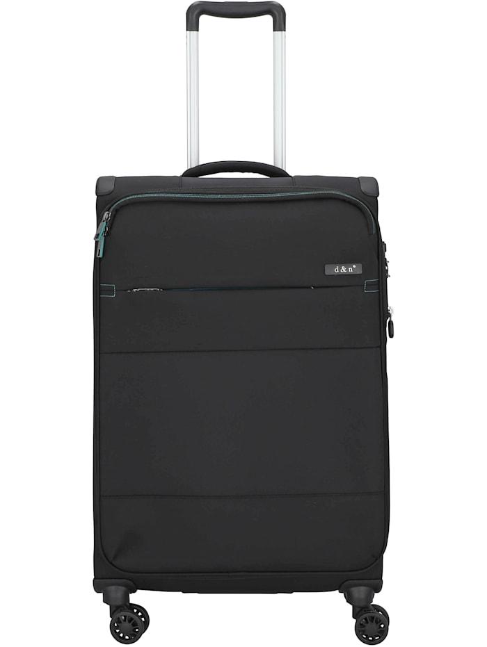 D&N Travel Line 9004 4-Rollen Trolley 68 cm, schwarz