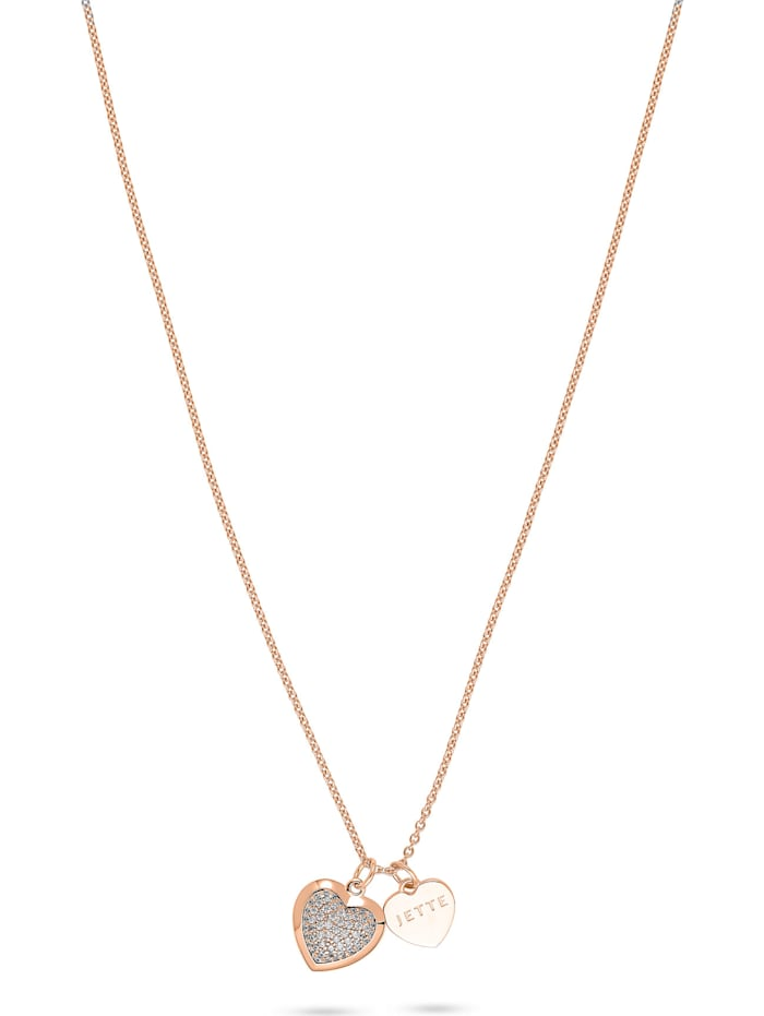 Jette JETTE Damen-Kette 925er Silber 61 Zirkonia, roségold