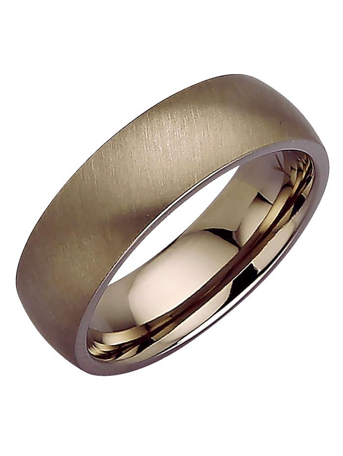 KLiNGEL Damenring aus Titan, Grau