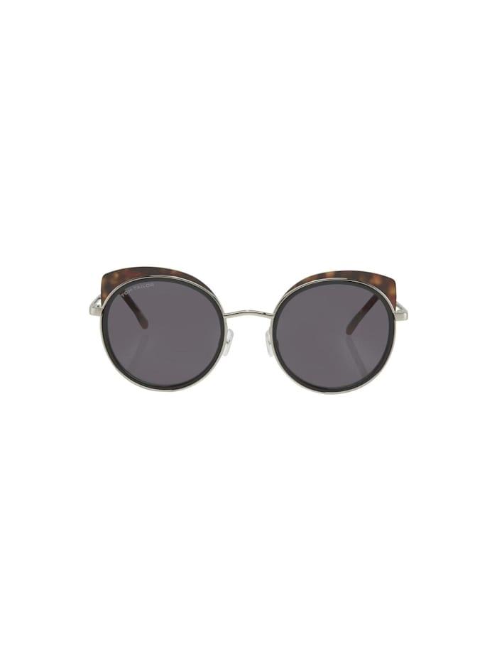 Runde Sonnenbrille mit getönten Gläsern
