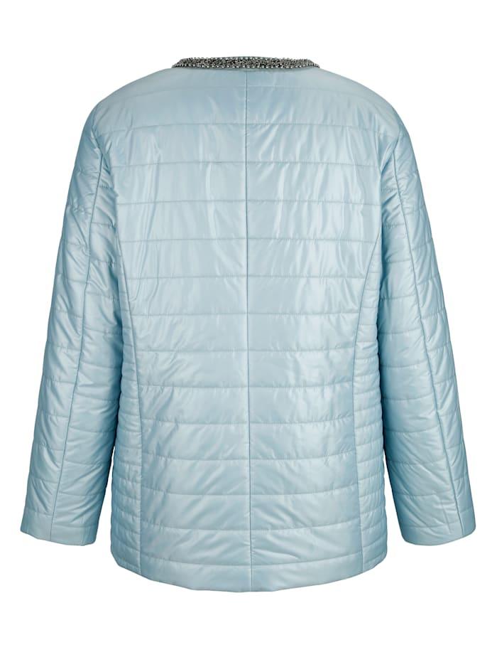 Gewatteerde jas met sierkraaltjes