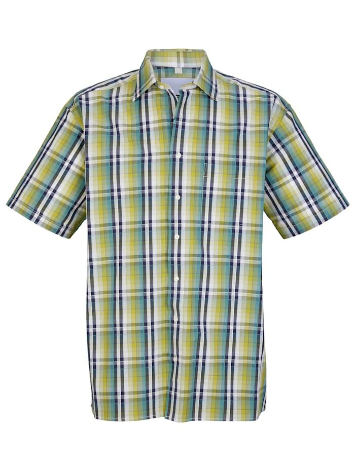 Overhemd van seersucker materiaal, Groen