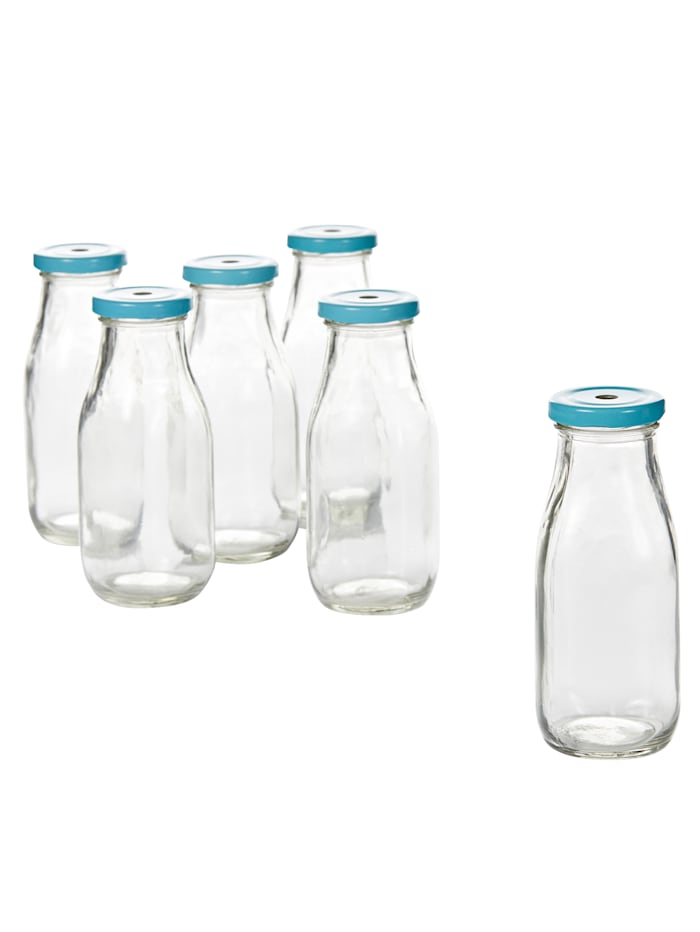 IMPRESSIONEN living Flaschen-Set, 6-tlg., clear/blue