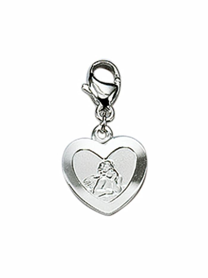 1001 Diamonds 1001 Diamonds Damen Silberschmuck 925 Silber Charms Anhänger Amor, silber