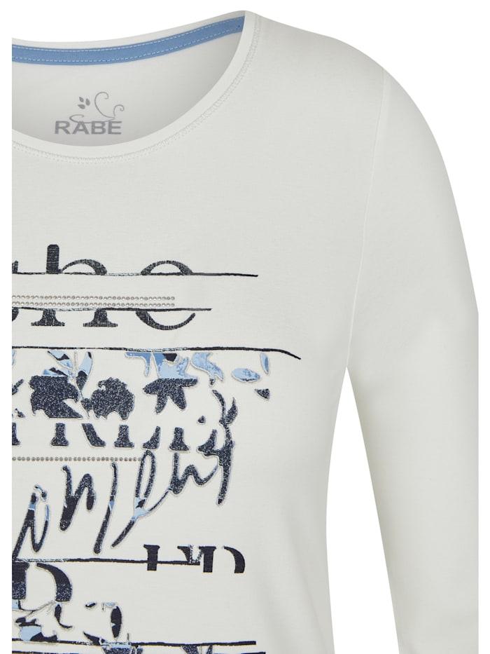 Shirt mit Glitzersteinen und Front-Print