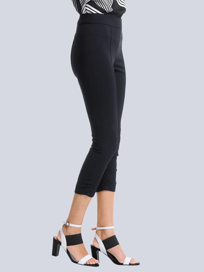 Alba Moda Pantalon en matière technique indéformable, Noir