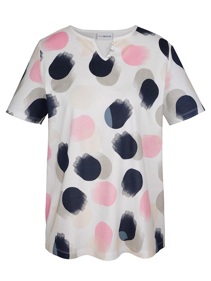 Shirt mit grafischen Tupfen allover