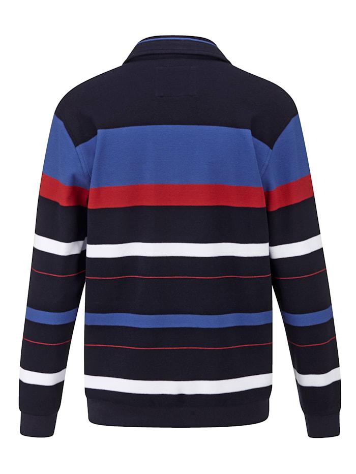 Sweatshirt van piquémateriaal