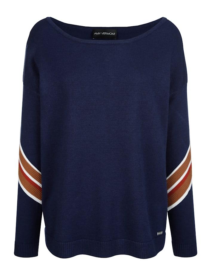 Pullover mit Streifen am Ärmel