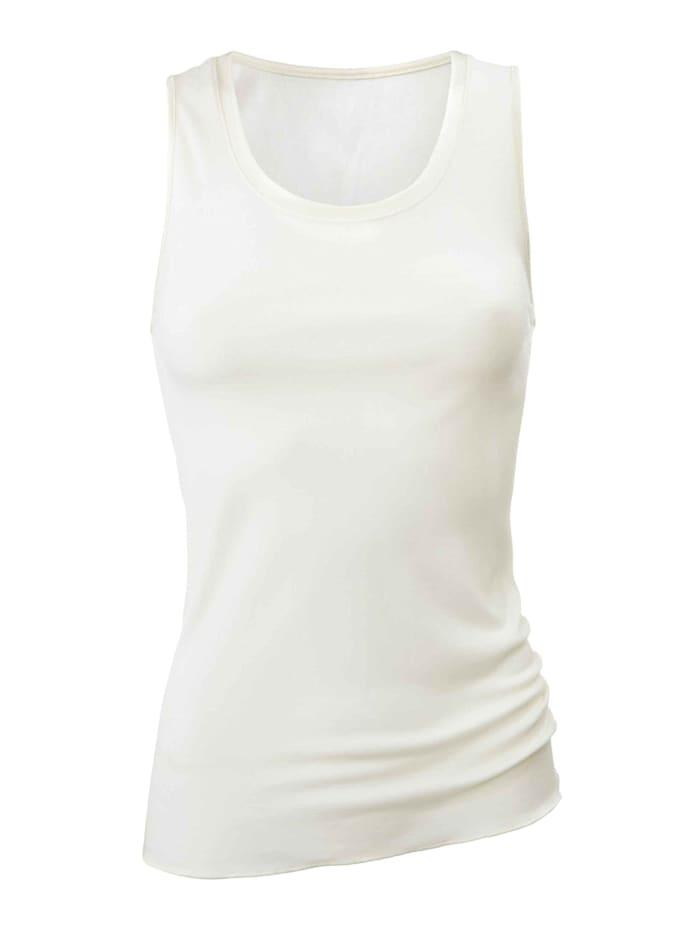 Calida Tank-Top aus Wolle-Seide Ökotex zertifiziert, Cream White