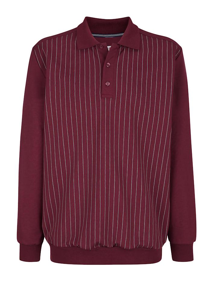 Roger Kent Sweatshirt met print voor, Bordeaux