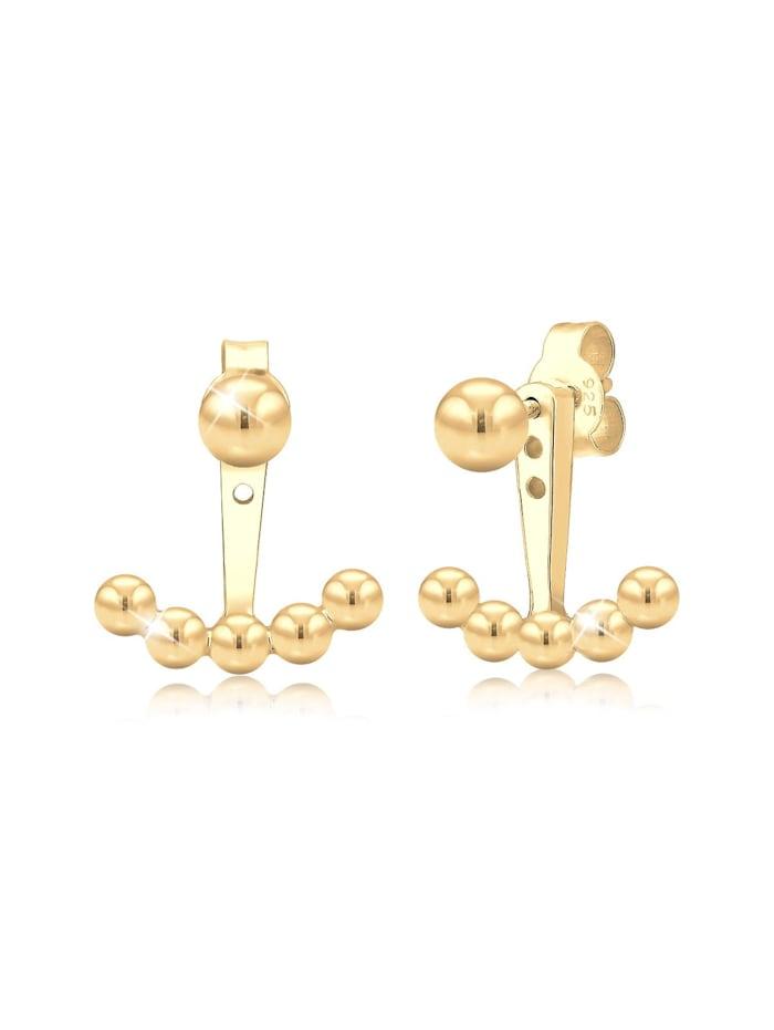 Elli Ohrringe Ear Jacket Kugeln Trend 925 Sterling Silber, Gold