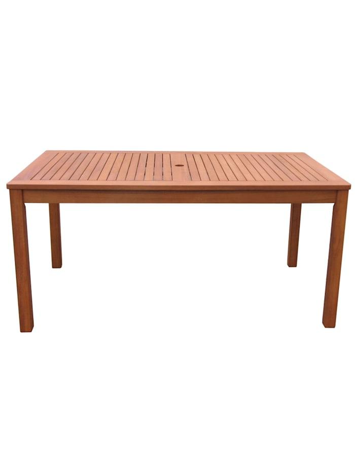 Grasekamp Gartentisch 160x90cm Natur Holztisch  Tisch Gartenmöbel Eukalyptus, Natur