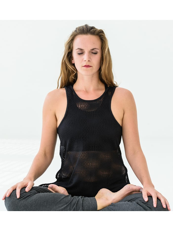 "Yoga-mesh-top ""roma"" - Black"