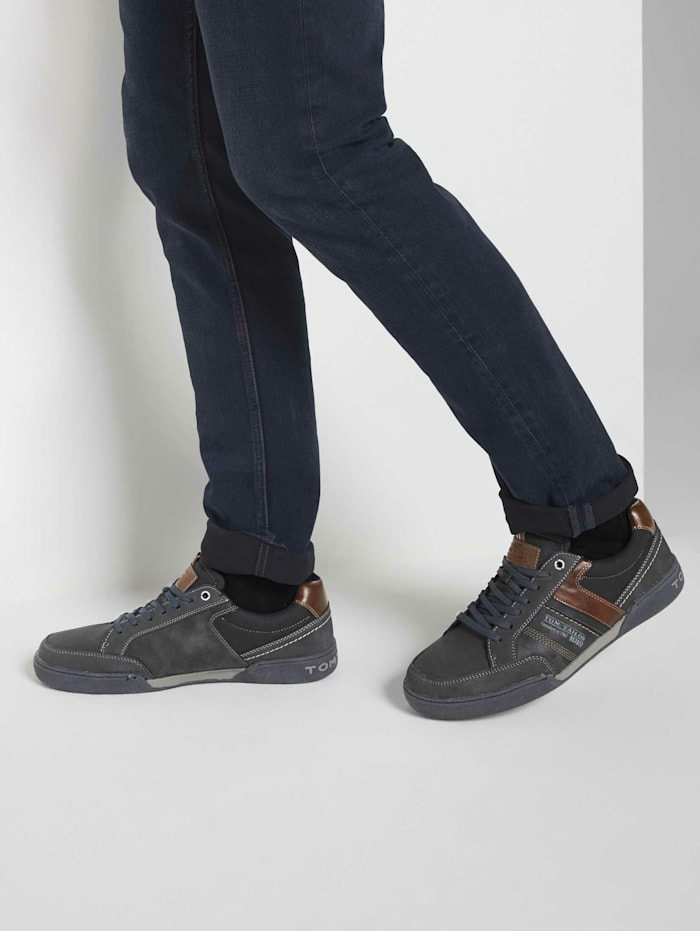 Tom Tailor Sneaker aus Kunstleder, navy