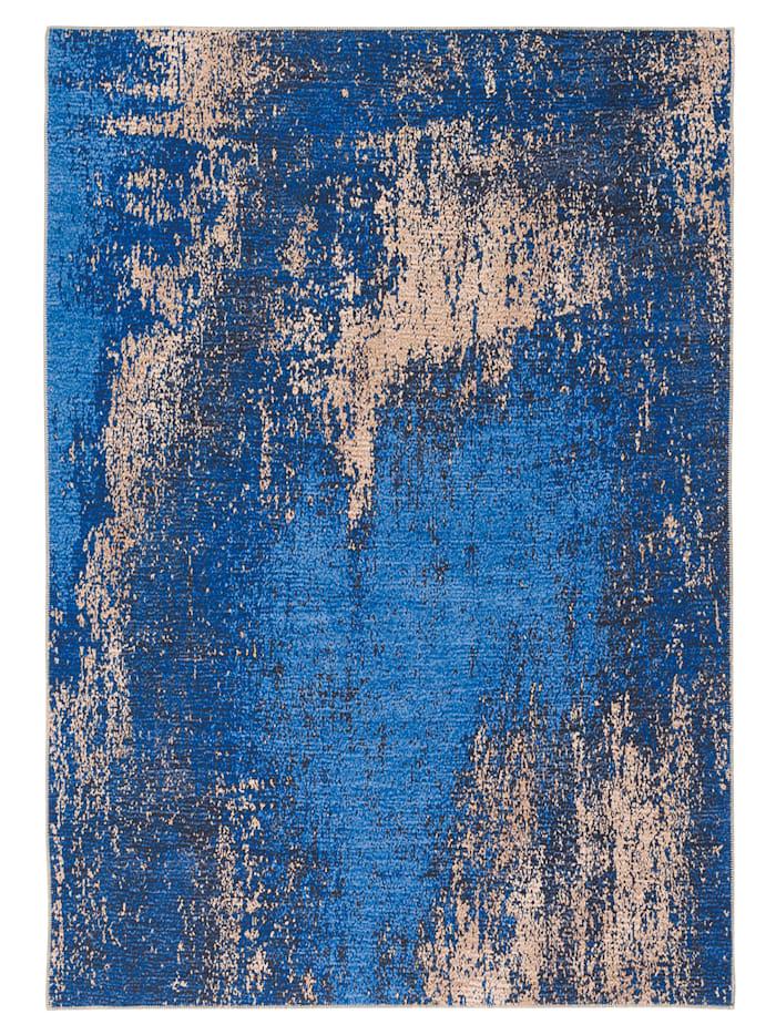 Pergamon Luxus Vintage Designer Teppich Primus Verlauf, Blau