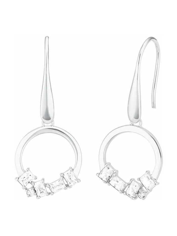 amor Ohrhänger für Damen, Sterling Silber 925, Zirkonia, Silber