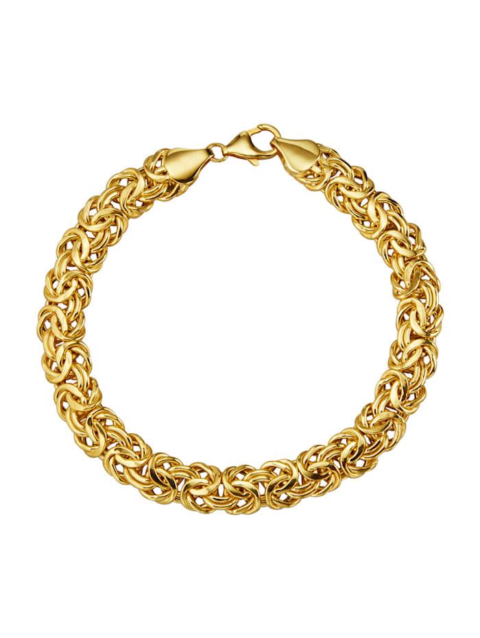 Amara Or Bracelet maille royale en or jaune 585, Coloris or jaune