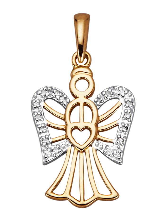 Pendentif Ange avec diamants