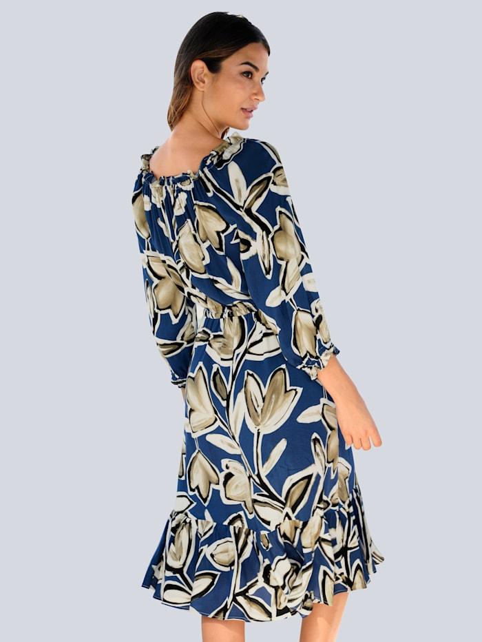 Strandkleid mit dekorativem Blumendruck