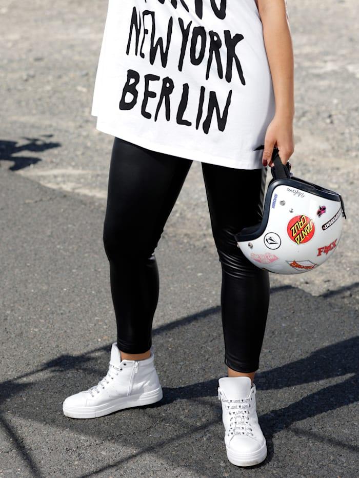 Angel of Style Leggings in Lederimitat, Schwarz