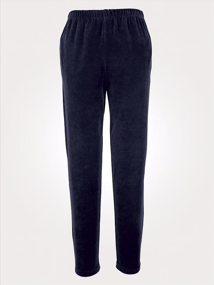 Harmony Velours broek, Blauw