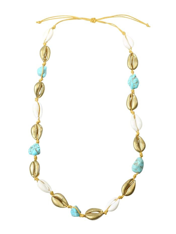 Luxus Halskette Ariella mit Halbedelsteinen Halbedelsteine und Muscheln