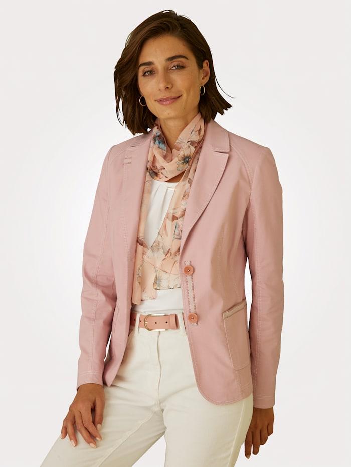 MONA Blazer in Baumwoll-Qualität, Rosé