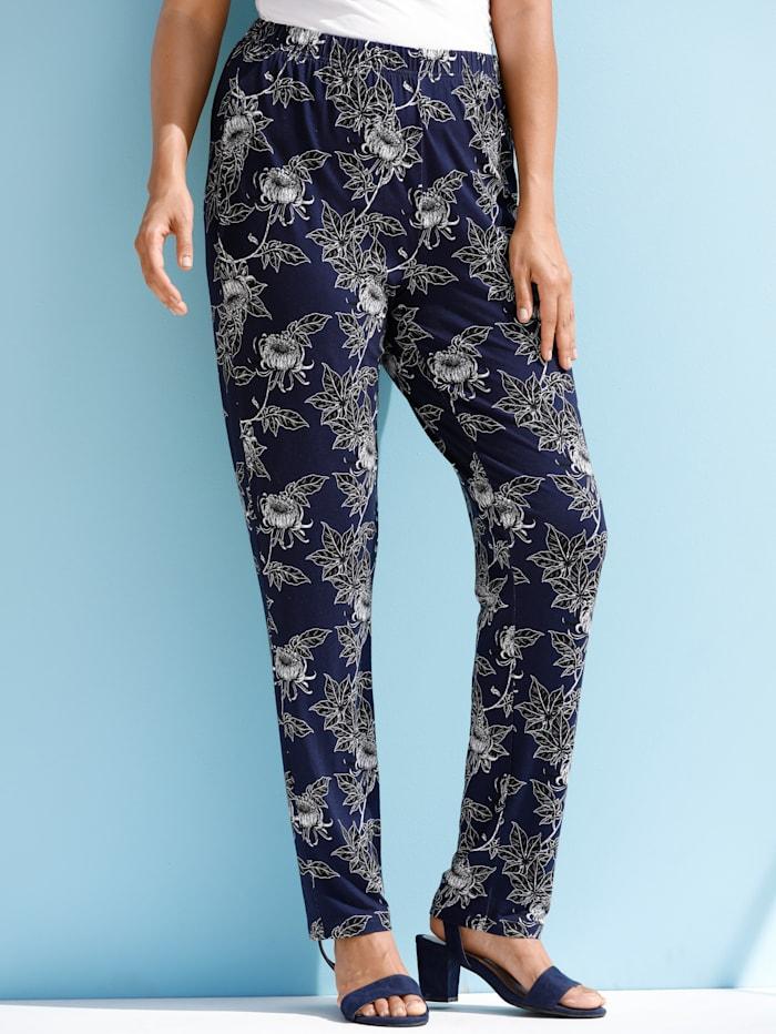 Hose aus bedrucktem Jersey