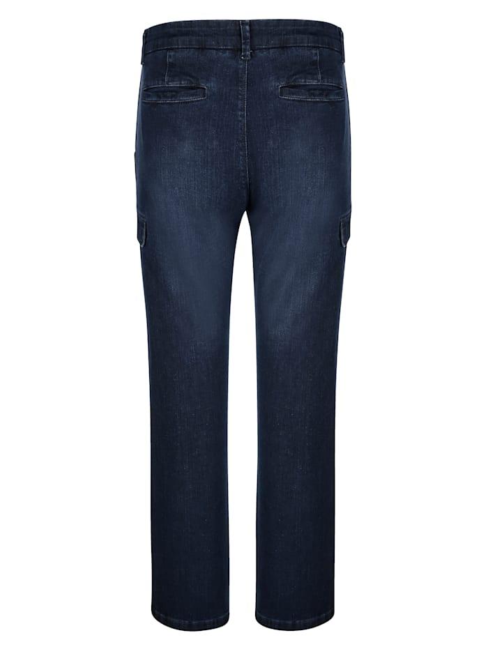 Jeans med benfickor