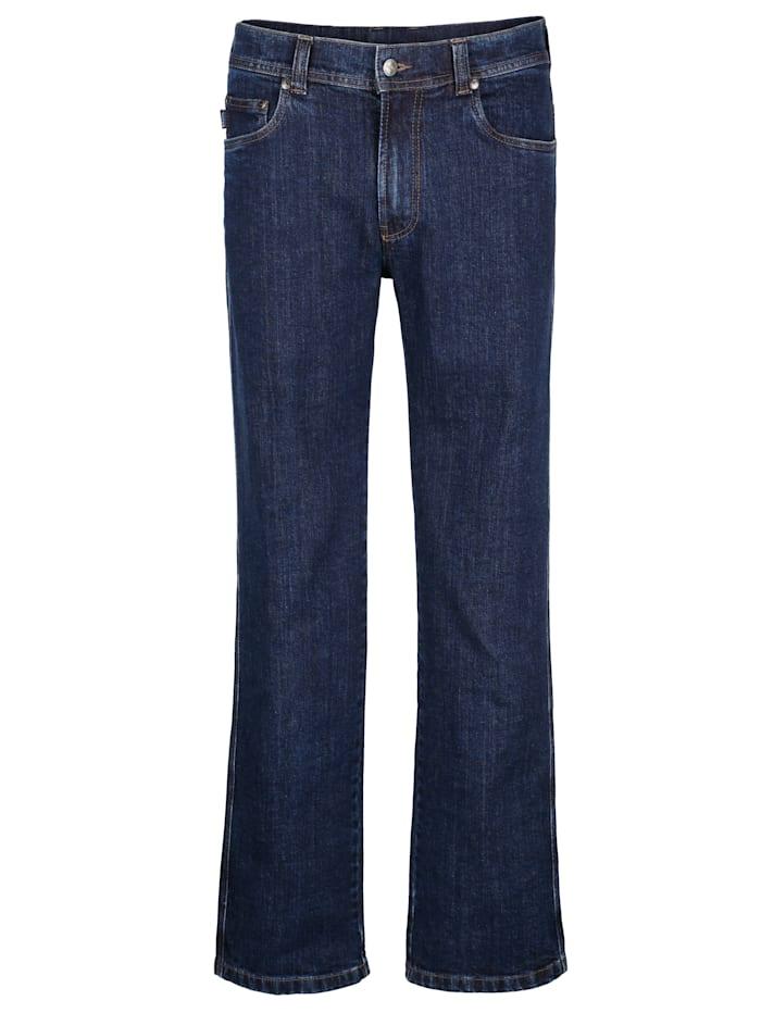 Brühl Jeans med skön stretch, Blue stone