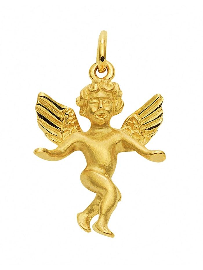 1001 Diamonds Damen Goldschmuck 585 Gold Anhänger Engel, gold