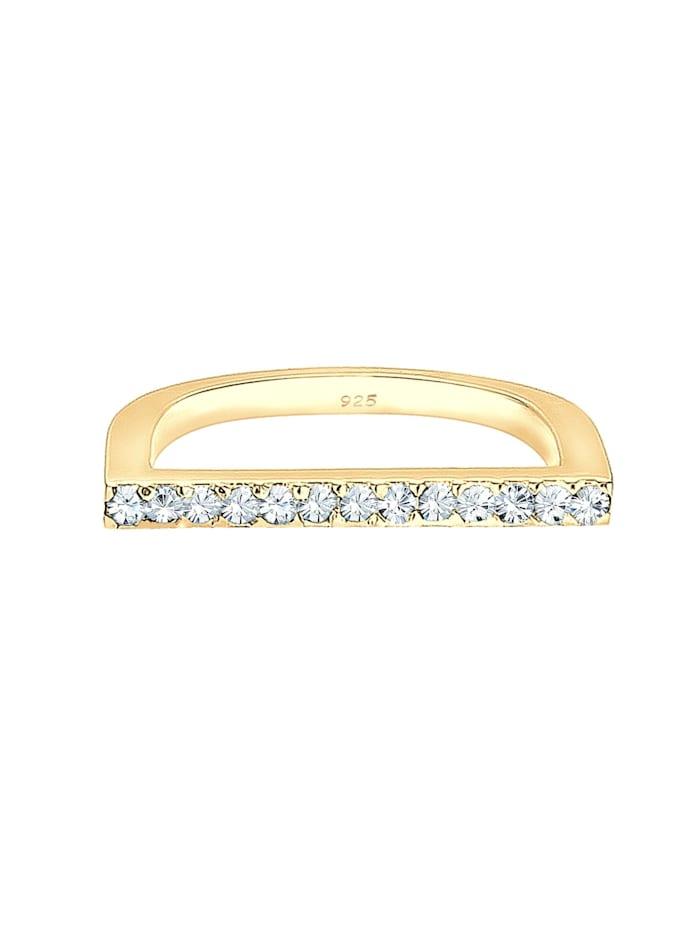 Ring Geo Trend Kristalle 925 Sterling Silber