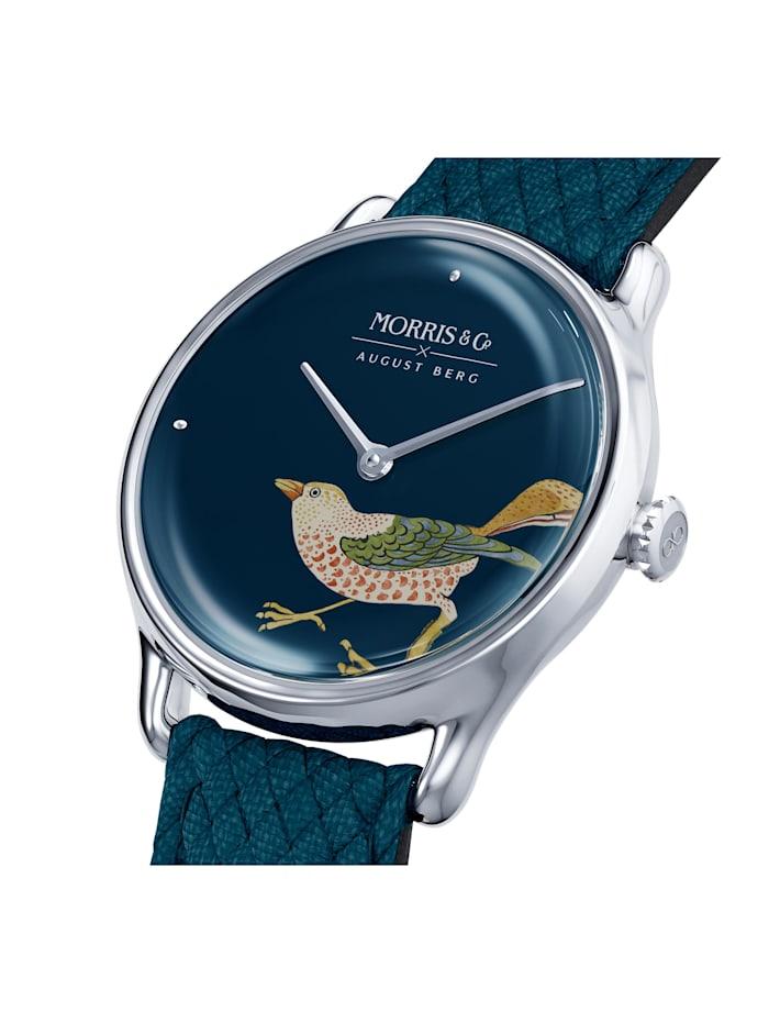 Uhr MORRIS & CO Silver Bird Indigo Perlon 30mm