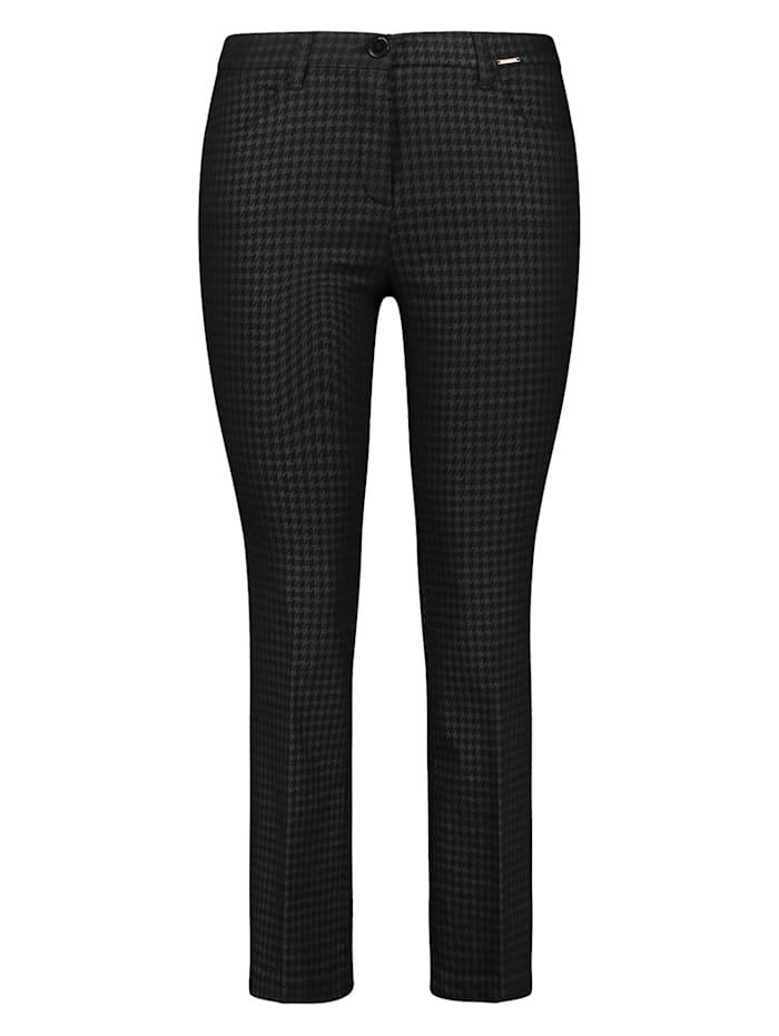 Samoon 7/8 Hose Betty im Flared-Style, Black gemustert