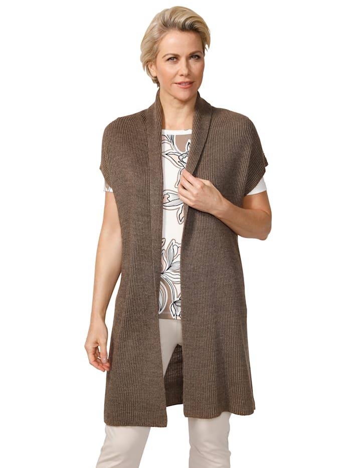 Pletená vesta z hřejivá směs vlny