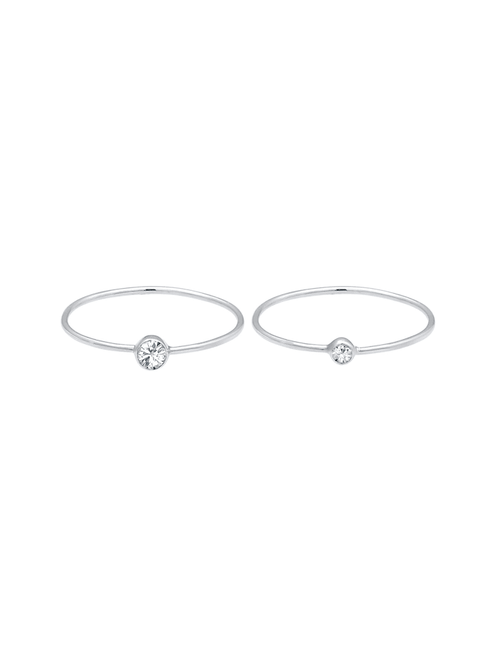Ring Set Basic Trend Kristalle 925 Silber