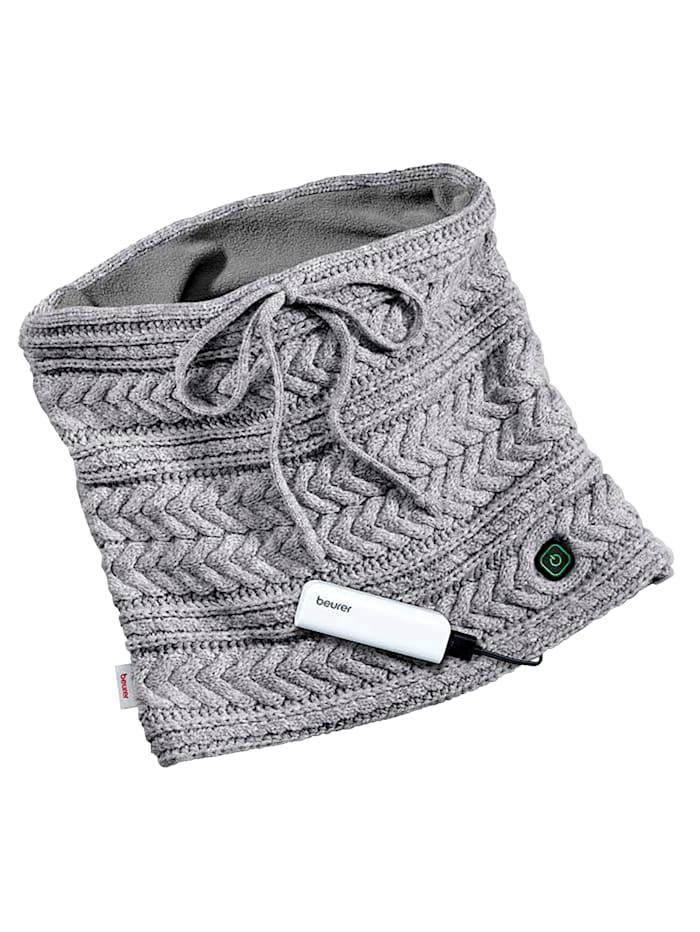 Beurer HK37 Beheizbarer Schlauchschal mit Powerbank, grau