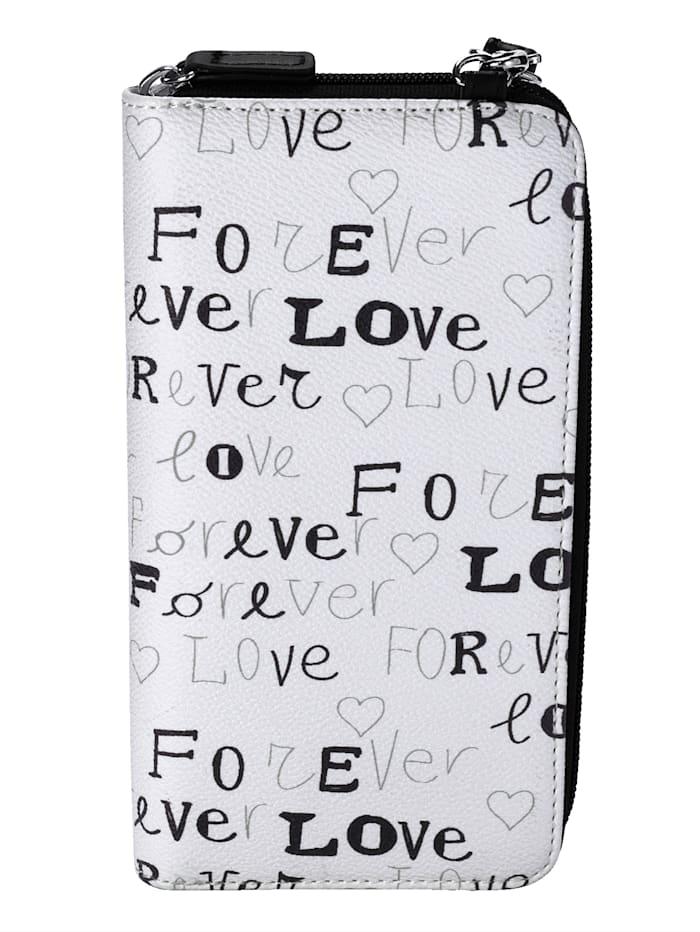 Kännykkälaukku / Lompakkolaukku love-tekstiprintillä