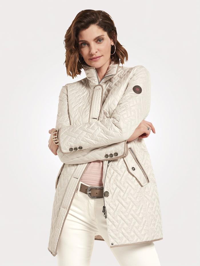 Gewatteerde jas met platte stiksels