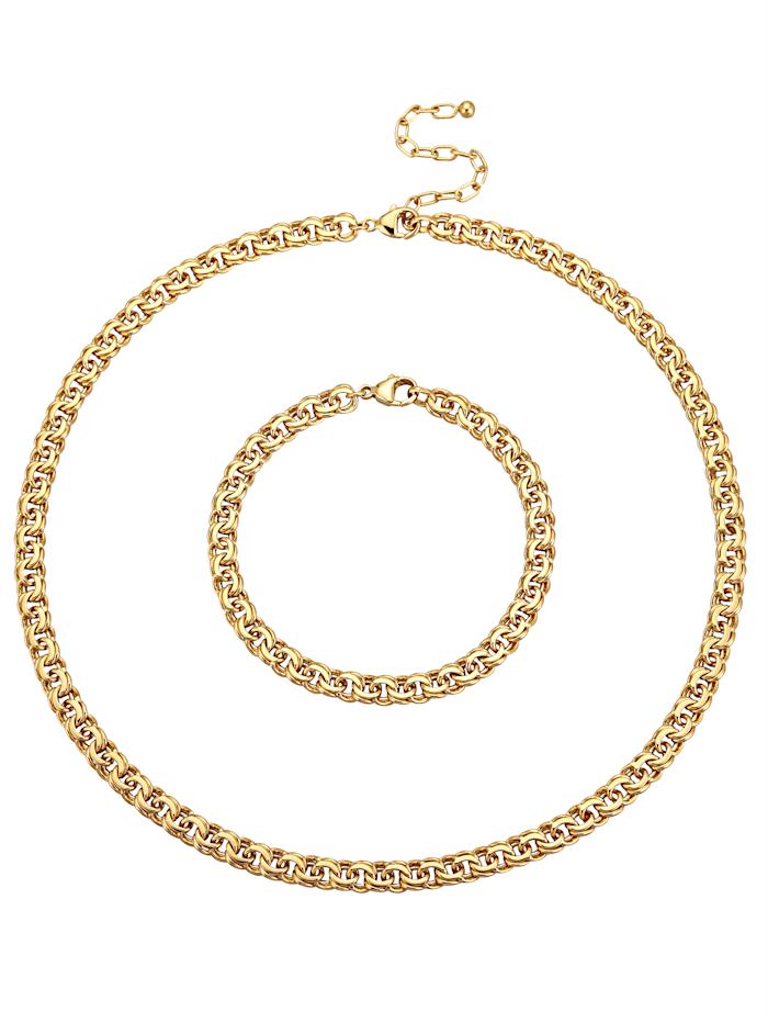 Golden Style 2-diel. súprava šperkov, pozlátená, Žltá
