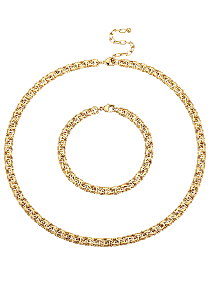 Golden Style Halsband och armband, Gul