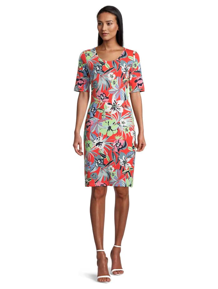 Betty Barclay Jerseykleid mit Blumenprint, Red/Green
