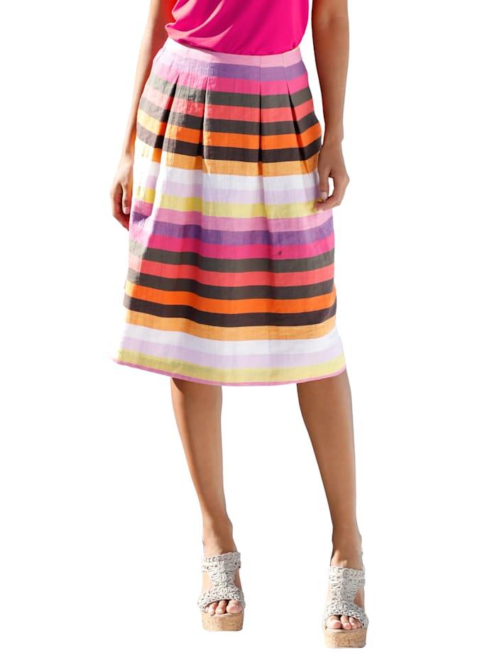 AMY VERMONT Rok met strepen, Multicolor